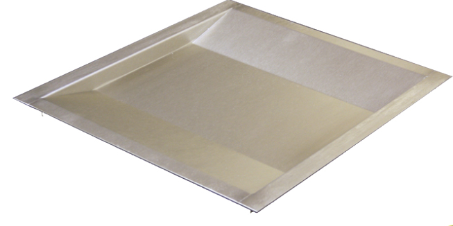 Stainless Steel Shallow Document Transfer Tray